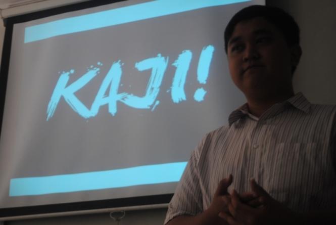 Wandy, Pendidikan Ilmu Komputer 2013 selaku ketua pelaksana KAJI!
