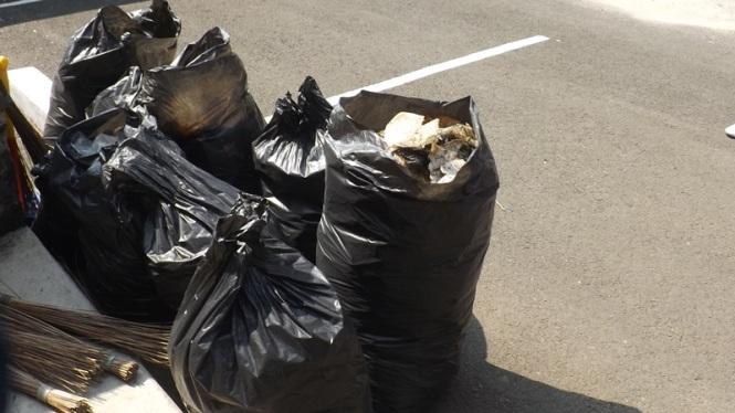 Sampah yang terkumpul pada kegiatan ZWE.
