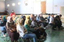 Hadirin sosialisasi KKN Posdaya di GOR kantor desa.